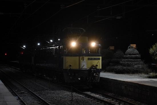 2021年1月1日撮影 9471レ EF64重連 坂北駅進入