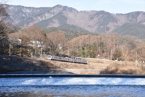 2021年1月10日撮影 飯田線は天竜川と213M 313系1700番台