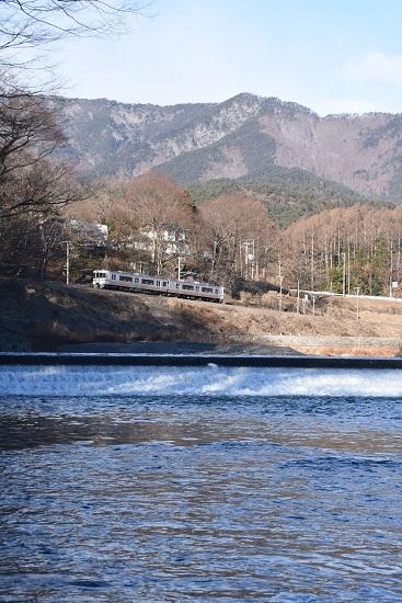 2021年1月10日撮影 飯田線は天竜川と回送 313系