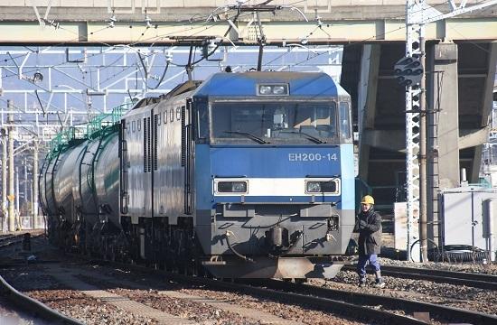 2021年1月31日撮影 南松本にて東線貨物2080レ 機回し 無線機返却