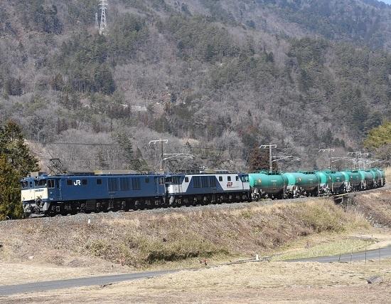 2021年2月21日撮影 西線貨物8084レ 糸瀬山にて