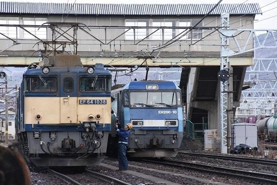 2020年12月19日撮影 南松本にて 西線貨物8084レ機回し 無線機返却