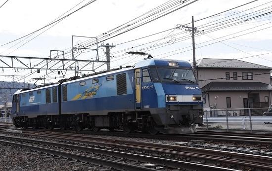2021年3月20日撮影 東線貨物2083レ EH200-15号機の単機回送 引き付けて