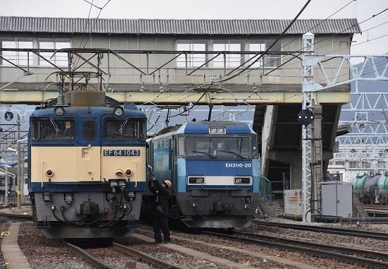 2021年1月16日撮影 南松本にて 西線貨物8084レ機回し 無線機返却