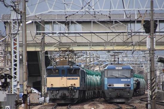 2021年1月16日撮影 南松本にて 西線貨物8084レ EF64とEH200 運転士さん
