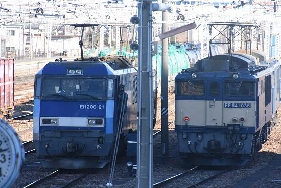 2021年1月30日撮影 南松本にて 東線貨物2080レ 機回し2