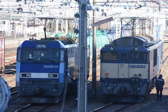 2021年1月30日撮影 南松本にて 東線貨物2080レ 機回し3