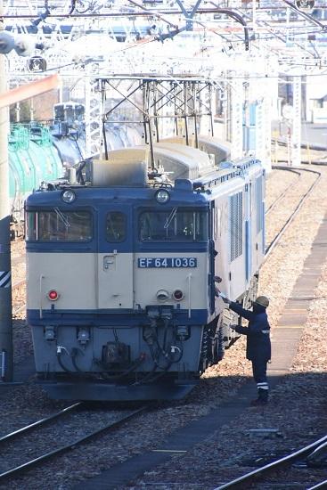 2021年1月30日撮影 南松本にて西線貨物8084レ機回し その1