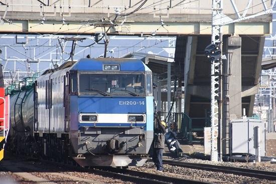 2021年2月14日撮影 南松本にて東線貨物2080レ 機回し 無線機返却