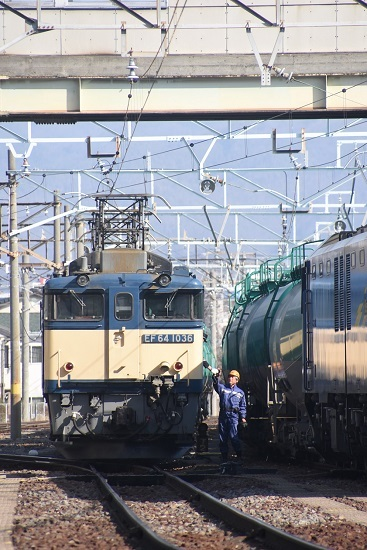 2021年2月21日撮影 南松本にて 西線貨物8084レ 無線機返却