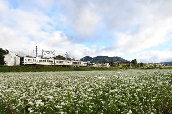 2021年9月19日撮影 飯田線は伊那新町駅にて 回送の213系到着