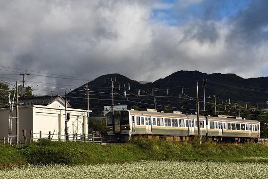 2021年9月19日撮影 飯田線は伊那新町駅にて 204M 213系発車