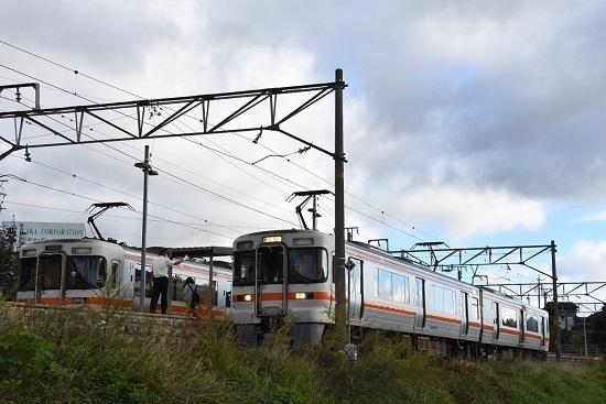 2021年9月19日撮影 飯田線は伊那新町駅にて 313系同士の並び