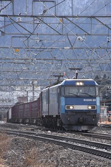 2021年1月9日撮影 東線貨物2083レ EH200-20号機 塩尻駅通過