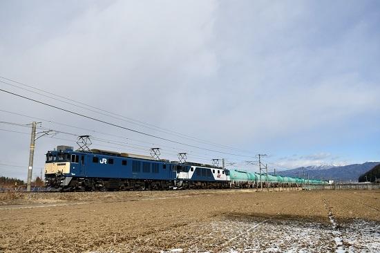 2021年1月9日撮影 西線貨物8084レ EF64-1021+1013号機