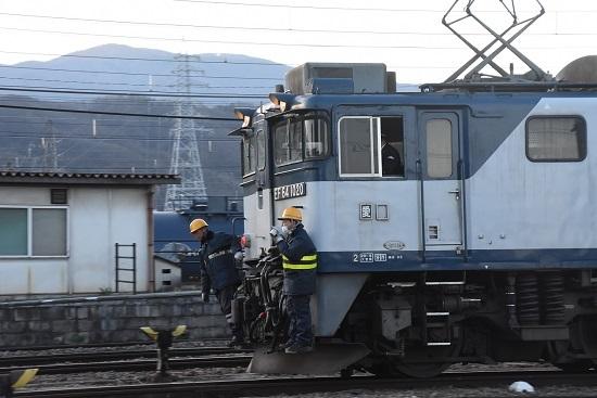 2021年4月10日撮影 南松本にて 篠ノ井線8087レ 機回し その3