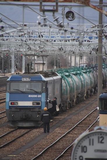 2021年1月16日撮影 南松本にて 東線貨物2080レ EH200-20号機 乗り込み