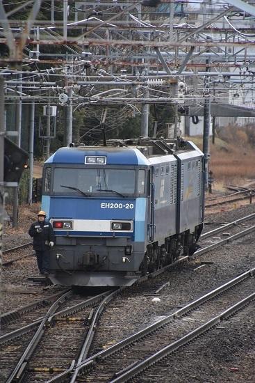 2021年1月16日撮影 南松本にて 東線貨物2080レ EH200-20号機 機回し