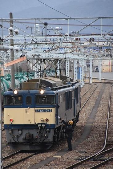 2021年1月16日撮影 南松本にて 西線貨物8084レ 機回し 無線機渡し
