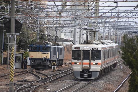 2021年1月16日撮影 南松本にて 西線貨物8084レ 機回し 1425M退避