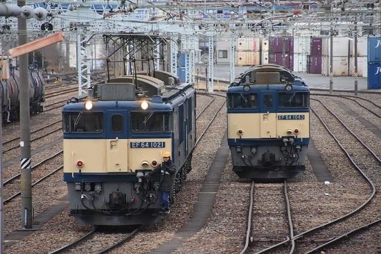 2021年1月17日撮影 南松本にて西線貨物8084レ機回し 発車