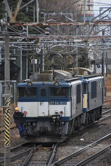 2021年1月17日撮影 南松本にて西線貨物8084レ機回し 本線横断