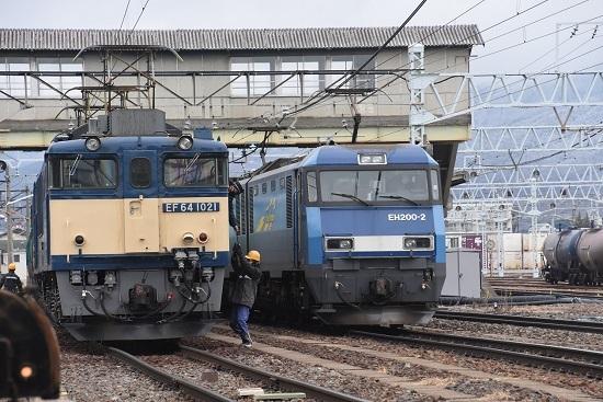 2021年1月17日撮影 南松本にて西線貨物8084レ機回し 無線機返却