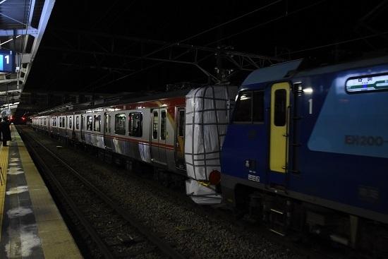 2021年1月21日撮影 岡谷駅にてしなの鉄道SR1系 甲種輸送