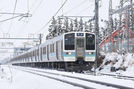 2021年1月24日撮影 篠ノ井線 436M 211系