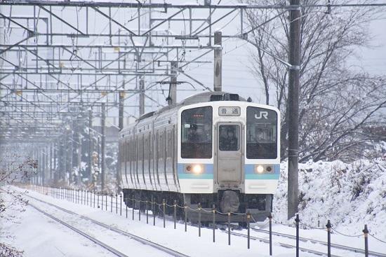 2021年1月24日撮影 篠ノ井線 431M 211系