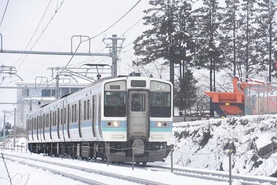 2021年1月24日撮影 篠ノ井線 1530M 211系