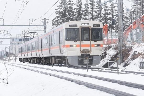 2021年1月24日撮影 篠ノ井線 3424M 313系1700番台