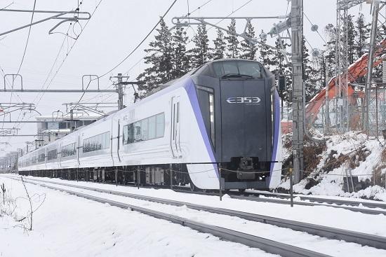 2021年1月24日撮影 30M E353系 あずさ30号