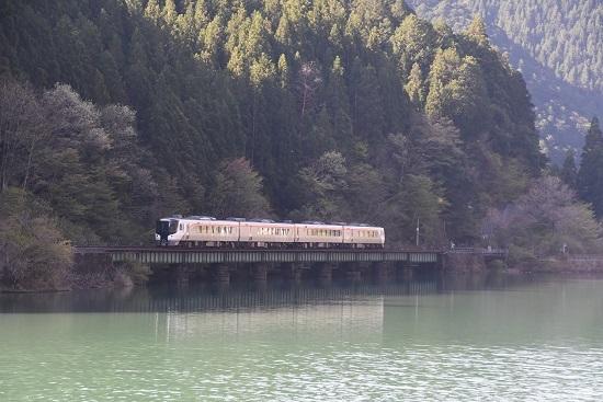2021年4月11日撮影 高山本線 HC85試運転下り 下原ダム