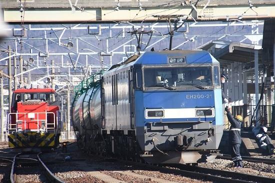 2021年1月30日撮影 南松本にて東線貨物2080レ機回し 無線機返却