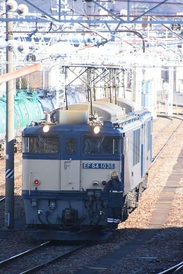 2021年1月30日撮影 南松本にて西線貨物8084レ機回し その2