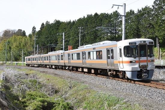 2021年4月18日撮影 飯田線 211M 313系1700番台 B153編成