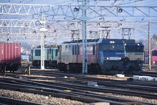 2021年1月31日撮影 南松本にて東線貨物2080レ 機回し その1