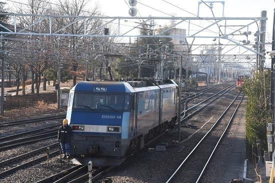 2021年1月31日撮影 南松本にて東線貨物2080レ 機回し その2