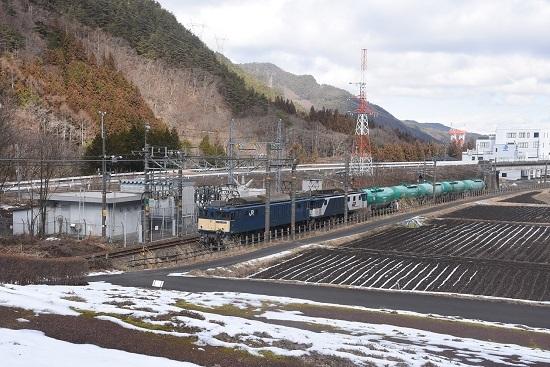 2021年1月31日撮影 西線貨物8084レ EF64原色+更新色+緑タキ5両