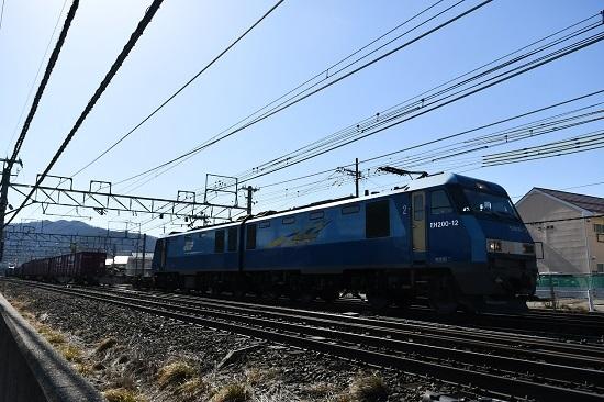 2021年2月13日撮影 東線貨物2083レ EH200-12号機のUP