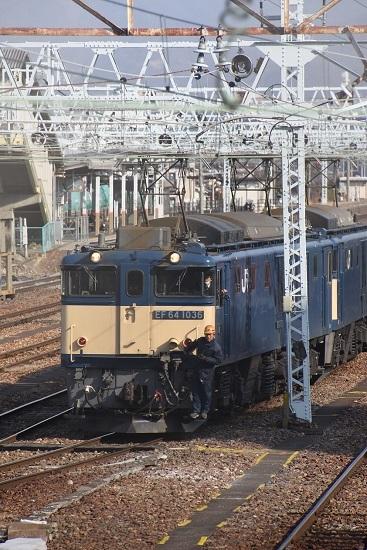 2021年2月7日撮影 南松本にて西線貨物8084レ 機回し 発車