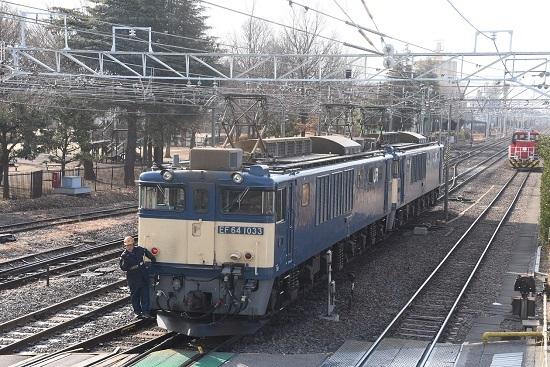 2021年2月7日撮影 南松本にて西線貨物8084レ 機回し中