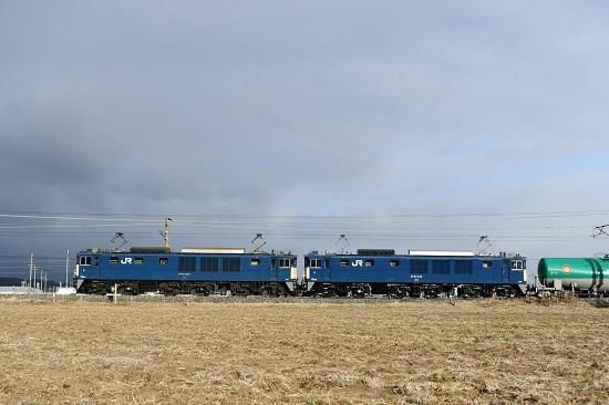 2021年2月27日撮影 西線貨物60883レ EF64-1043+1035号機 その2