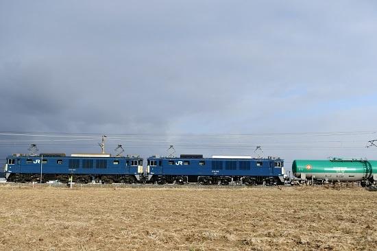 2021年2月27日撮影 西線貨物60883レ EF64-1043+1035号機 その3