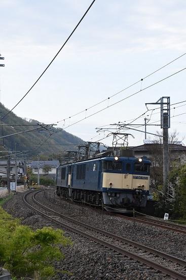 2021年5月1日撮影 篠ノ井線8087レ EF64-1023+1022号機 原色重連