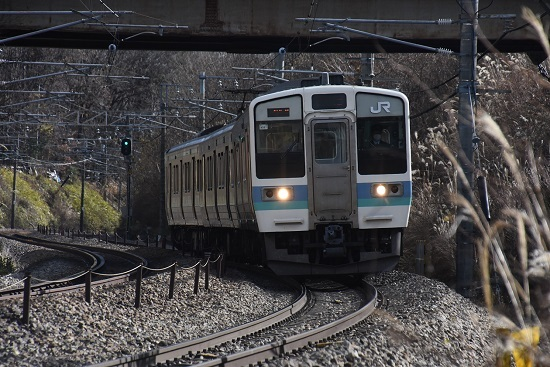 2020年11月28日撮影 中央東線 211系 435M N307編成