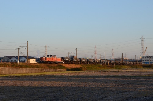 2014年11月21日撮影 関西本線 6361レ DD51-852号機 セメント貨物