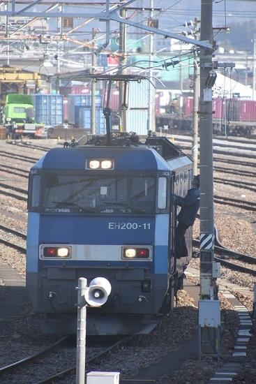 2021年2月13日撮影 南松本にて EH200-11号機パン上げ