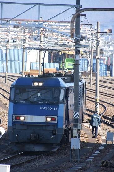 2021年2月13日撮影 南松本にて EH200-11号機仕業点検
